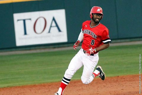 Austin Peay junior center fielder Imani Willis had three hits including a double in Saturday's loss to Notre Dame Fighting Irish. (APSU Sports Information)