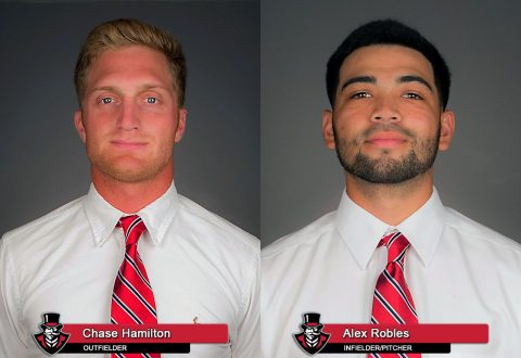 APSU Baseball's Chase Hamilton and Alex Robles