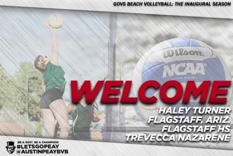 Austin Peay Beach Volleyball signs haley Turner from Trevecca Nazarene for the 2018 season. (APSU Sports Information)