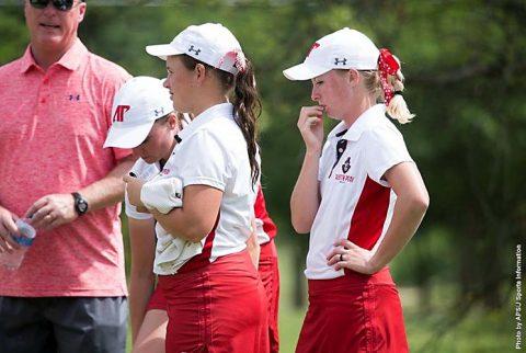 Austin Peay Women's Golf recipient of Ohio Valley Conference Women's Golf Team Sportsmanship Award. (APSU Sports Information)