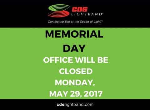 CDE Lightband closed for 2017 Memorial Day