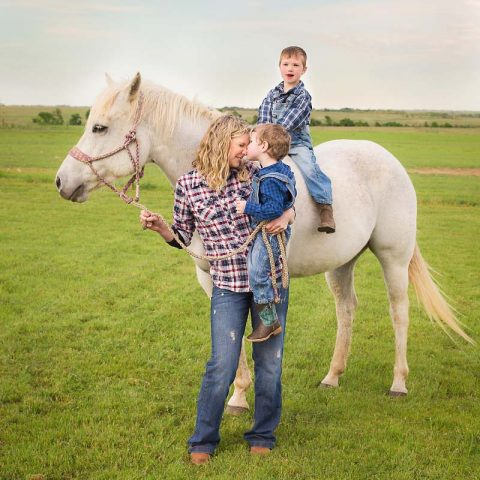 Candace Baker and her boys in Texas.