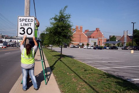 Speed limit on College Street now 30 mph.
