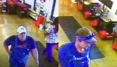 Clarksville Police are looking to identify the two people in this photo.