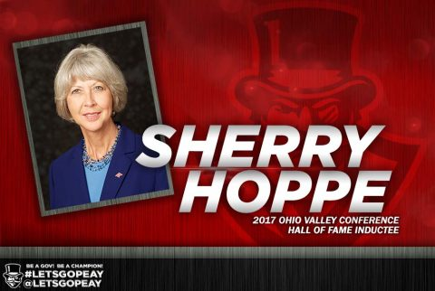 Dr. Sherry Hoppe enshrinement into OVC Hall of Fame. (APSU Sports Information)