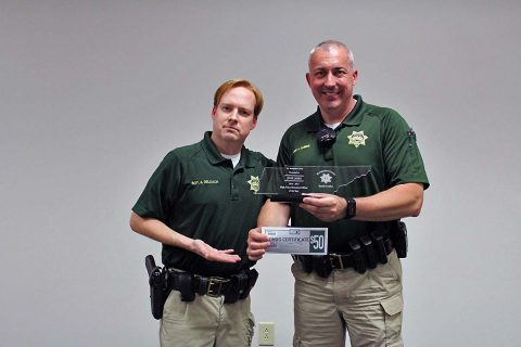 Montgomery County Sheriff's Deputy Jesse James named High School School School Resource Officer of the Year.