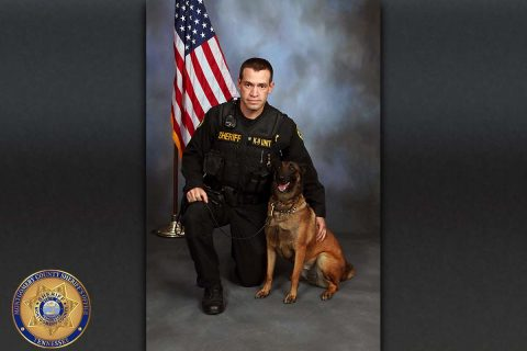 Montgomery County Sheriff's Deputy Kelley Potter and K9 Mallie