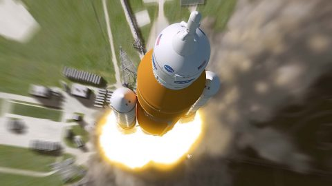 NASA studies feasibility of putting crew aboard the first integrated flight of the Orion spacecraft. (NASA)