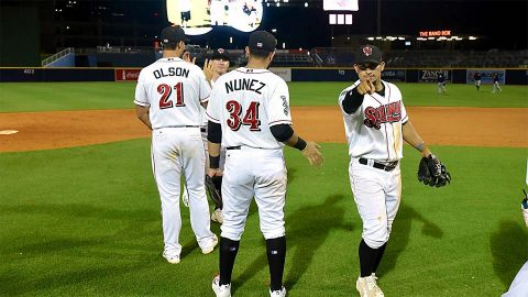 Nashville Sounds' Daniel Gossett Shines, Matt Olson and Renato Nuñez Homer Tuesday night. (Nashville Sounds)