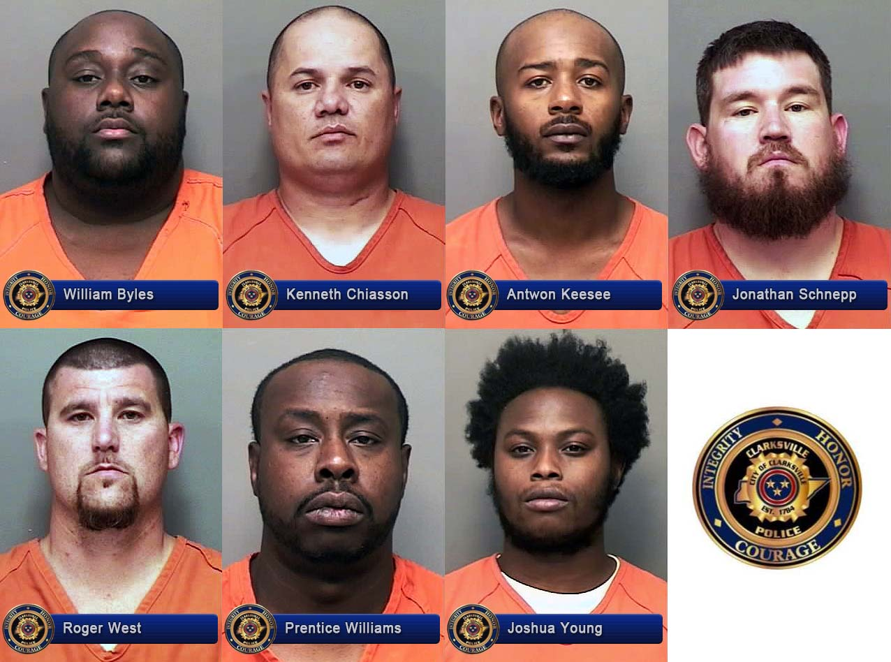 William Byles, Kenneth Chiasson, Antwon Keesee, Jonathan Schnepp, Roger West, Prentice Williams, and Joshua Young