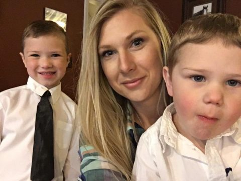 Candace Baker and her sons