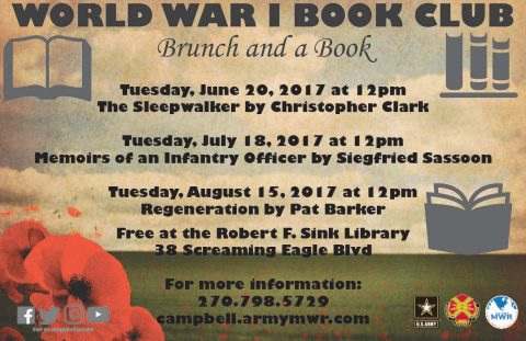 "R.F. Sink Library ""Remembering WWI"" Book Club"