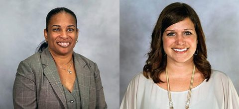 New CMCSS principals (L to R) Michelle Brock-Demps and Emily Clark.