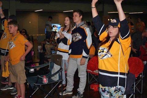 City of Clarksville Nashville Predators Viewing Party