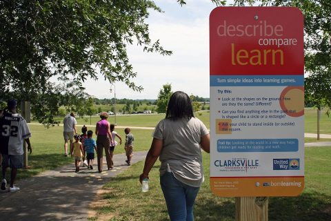 Born Learning Trail opens at Liberty Park.