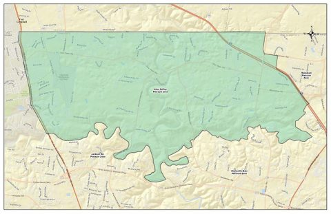 Clarksville Gas and Water - Allen Griffey Water Pressure Zone Map