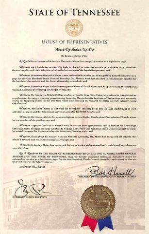 House Resolution No. 172
