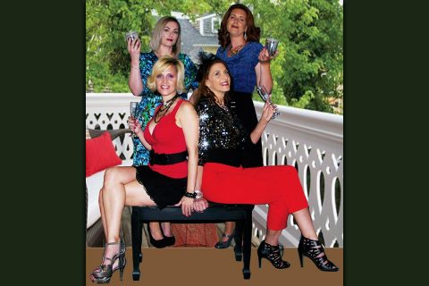 "The ladies of ""The Savannah Sippin' Society"" Standing: (l to r) Misty Rogers, Amy Snider, Seated: Tracey Webb, Joan Lillard."