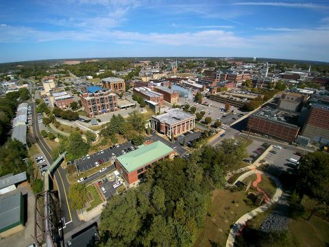 A total of 468 cities across the U.S. were evaluated on their comparative custom home cost, growing home values, affordability, population, educational values and low unemployment and crime rates. Downtown Clarksville photo by David Smith.