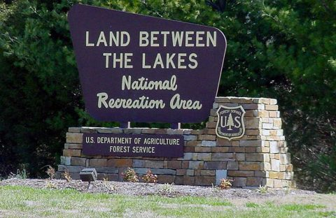 Entrance sign to Land Between The Lakes. (LBL)