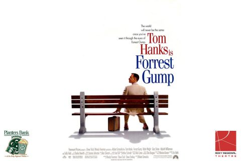 """Planters Bank Presents…"" film series to show ""Forest Gump"" this Sunday at Roxy Regional Theatre."