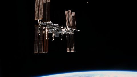 The International Space Station, as seen from space shuttle Atlantis in 2011. (NASA)