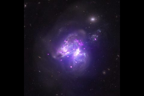 NASA's Chandra X-ray Observatory image reveals two galaxies that are merging. (NASA)