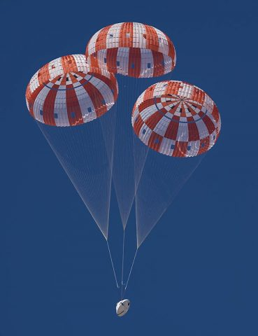 NASA is qualifying Orion's parachutes for missions with astronauts. (NASA)