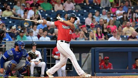 Nashville Sounds Put Up Seven Runs on Nine Hits in First Inning of 12-3 Win. (Nashville Sounds)