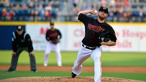 Paul Blackburn Posts Seven Shutout Innings While McBride and Chapman Go Deep for the Nashville Sounds. (Nashville Sounds)