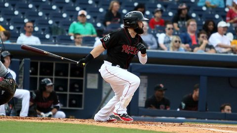 Nashville Sounds Jaff Decker Goes Yard Twice Tuesday against Storm Chasers. (Nashville Sounds)