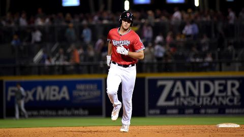 Randall Grichuk 10th Inning Hit Wins it for the Memphis Redbirds. (Nashville Sounds)