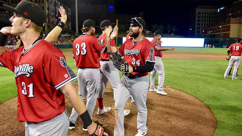 Nashville Sounds' Renato Nuñez hits Clutch Double in the Eighth that proves to be the Difference. (Nashville Sounds)