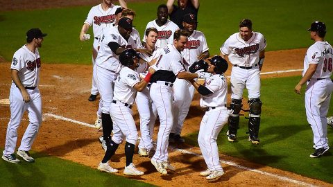 Nashville Sounds' Matt Olson's Three-Run Blast Salvages Doubleheader Split against New Orlands Baby Cakes. (Nashville Sounds)