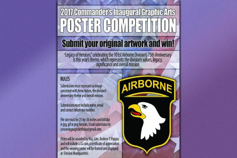 101st Airborne Division 75th Anniversary Poster Competition