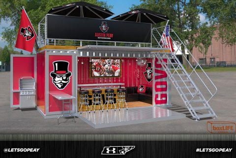 Austin Peay teams up with boxLIFE to add new seating experience at Fortera Stadium for fans. (APSU Sports Information)
