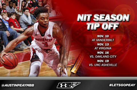 Austin Peay Men's Basketball to take part in the 2017 NIT Season Tip-Off, November 10th-19th, 2017. (APSU Sports Information)