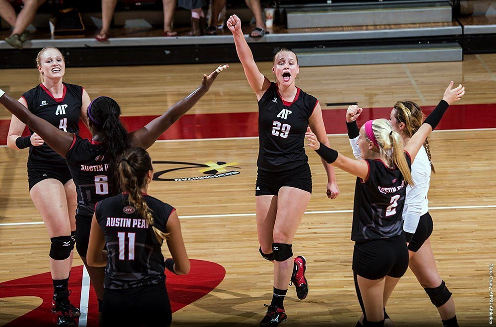 Austin Peay Indoor Volleyball team and the Beach Volleyball team received AVCA Team Academic Awards, Monday. (APSU Sports Information)