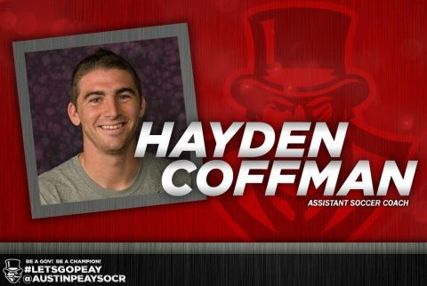 Austin Peay adds Hayden Coffman Soccer Staff. (APSU Sports Information)