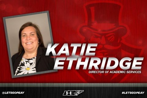 APSU names Katie Ethridge Austin Peay Athletics Director of Academic Services. (APSU Sports Information)