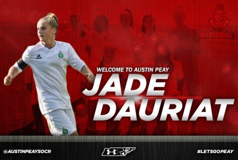 Austin Peay Women's Soccer adds Jade Dauriat. (APSU Sports Information)