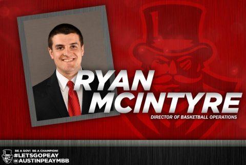 Austin Peay names Ryan McIntyre Men's Basketball Director of Basketball Operations. (APSU Sports Information)