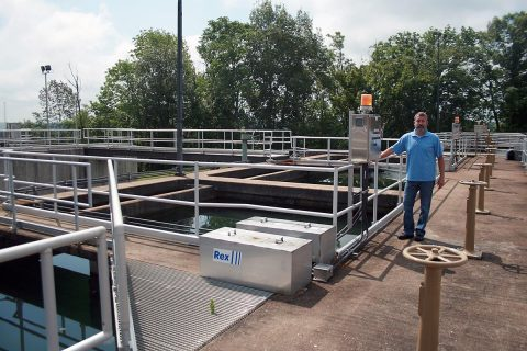 Phillip Whittinghill, Water Treatment Plant Superintendent, at the Clarksville Water Plant.