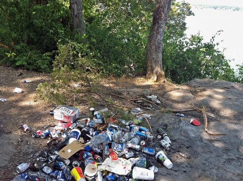 The U.S. Army Corps of Engineers Nashville District encourages the public to properly dispose trash when visiting Corps lakes.