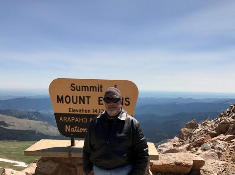Hank at the Summit of Mount Evans