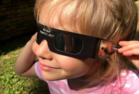 Be safe when viewing the eclipse… Wear solar viewing glasses. (LBL)