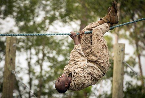 U.S. Marine Corps recruit Tyreike Robinson from Nashville, TN. (U.S. Marine Corps, Lance Cpl. Joseph Jacob)