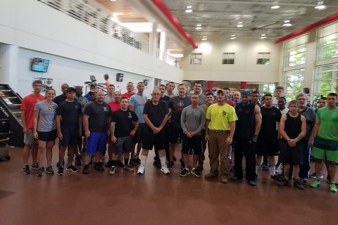 "Montgomery County Veterans Treatment Court ""All Rise for Exercise"" group."