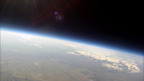 This picture of Montana was taken from the stratosphere (84,000 feet or 25,000 meters) during one of Montana Space Grant Consortium's high-altitude balloon tests on April 19, 2014. (Montana State University)
