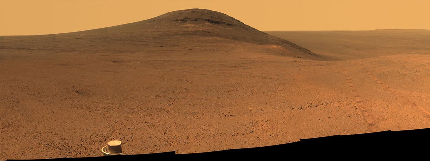 This June 2017 view from the Pancam on NASA's Opportunity Mars rover shows the area just above